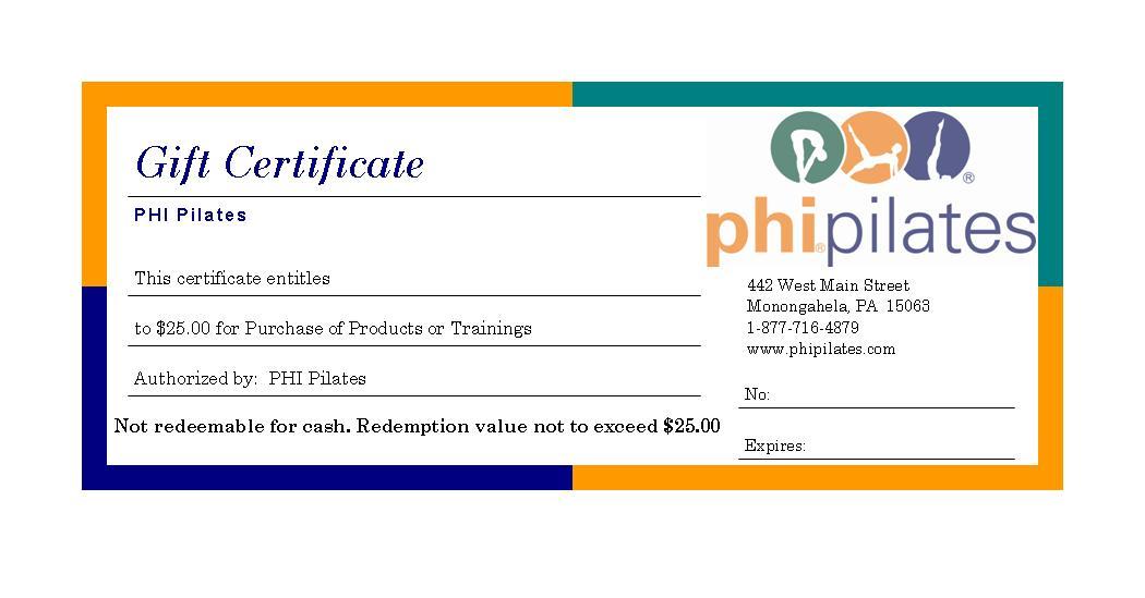 PHI Gift Certificates